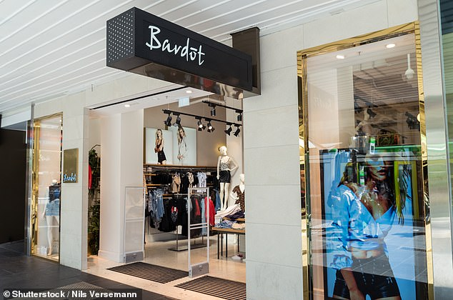 Fashion chain Bardot (pictured, its store in Melbourne) is closing 58 stores across Australia