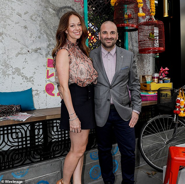 The business tycoon who tried to save George Calombaris's troubled restaurant empire from collapse said he and the celebrity chef are not expecting any money from placing the business into voluntary administration. Calombaris pictured with wife Natalie Tricarico in 2017