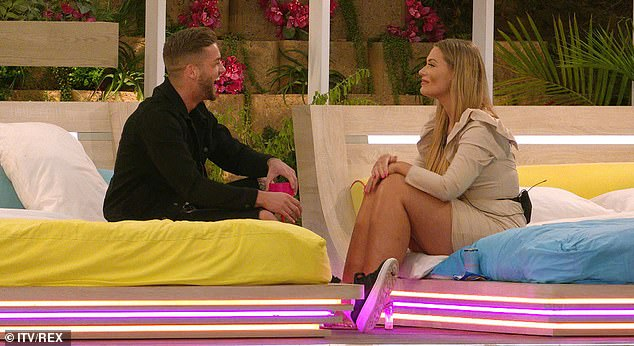 Short-lived: On Tuesday's episode, sparks flew as she flirted with Scotsman Jamie Clayton, 28, but she confessed their date confirmed her opinion on Luke