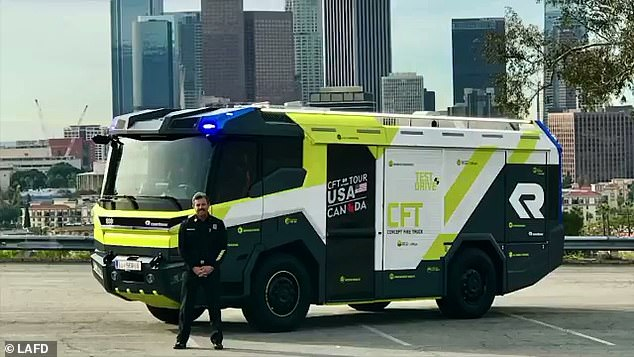 Los Angeles Fire Department (LAFD) Chief Ralph Terrazas (pictured)  said in a statement: 'I am excited that we are the first Department in North America to order this cutting-edge fire engine.'
