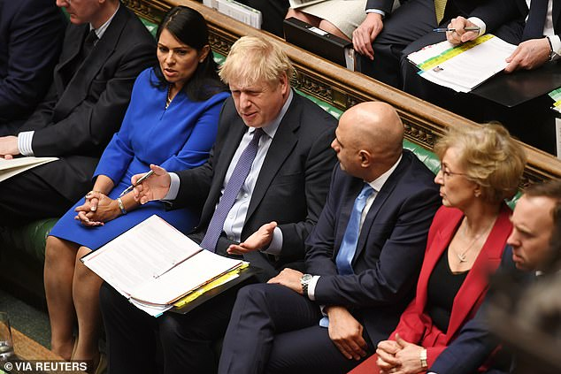 The Government benches exploded. The Prime Minister's mouth drooped, his expression half-pained, half-appalled