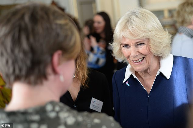 The Duchess of Cornwall during a reception for the 15th anniversary of the domestic abuse charity SafeLives, at Clarence House in London
