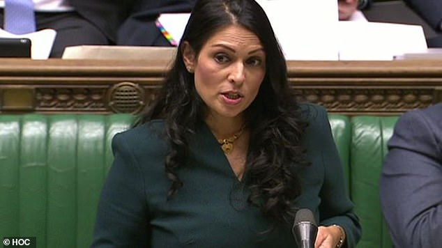 Culture Secretary Baroness Morgan and Home Secretary Priti Patel (pictured in Parliament) were at pains to reassure MPs yesterday that the measures are not intended to infringe on free expression, and no doubt they are acting with the best intentions. But as the pre-internet proverb reminds us, the road to hell is paved with those