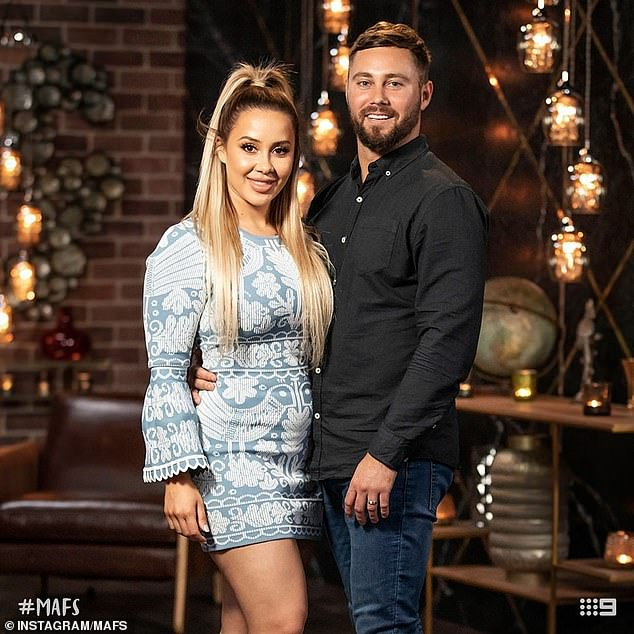 It's getting serious! All of the Married At First Sight couples will move in together on the show next week. Pictured: Cathy Evans and Josh Pihlak