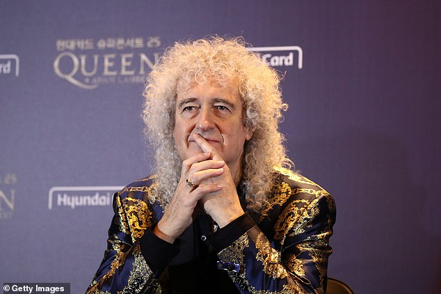 Brian May of Queen attends the press conference ahead of the Rhapsody Tour at Conrad Hotel on January 16, 2020 in Seoul, South Korea
