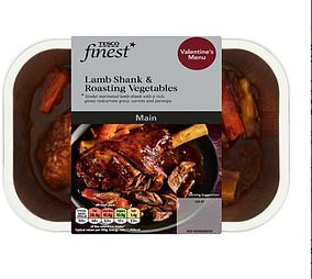 If the starters are followed by Tesco Finest Lamb Shank & Roasted Vegetables there's an extra 595 calories to be eaten