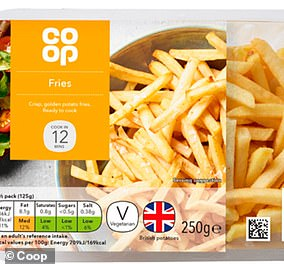 Co-op's chips offer a further 211 calories