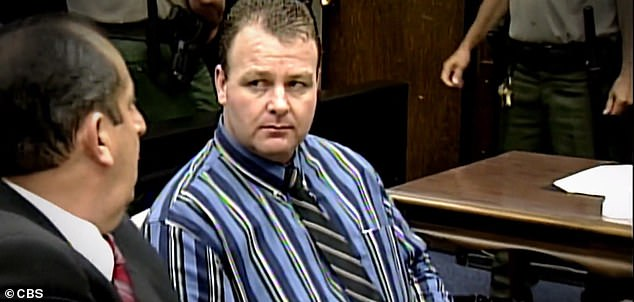 Davis at his trial. The case went unsolved for 14 years before investigators said DNA evidence and Dahl's confession tied Davis to the slaying back in November 1999