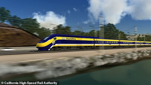 Pictured, an artist's impression ofCalifornia's High Speed Rail