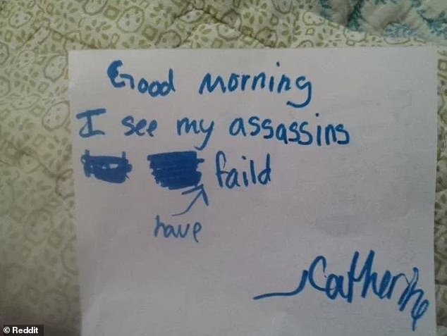 Disappointing! Catherine, from an unknown location, was dismayed to see that her assassination attempt had failed