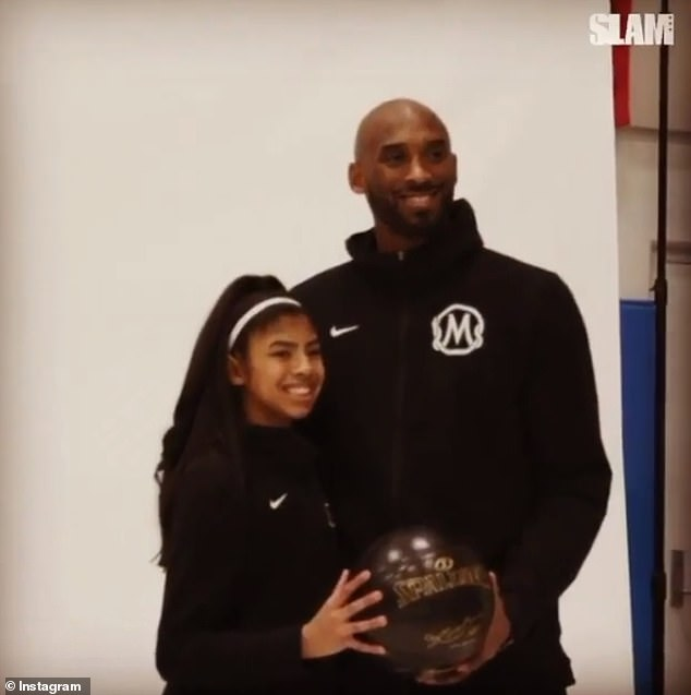 Reflecting: Along with the raw and emotional caption, Vanessa shared a montage of Gianna on the basketball court with her father Kobe and the teammates she left behind