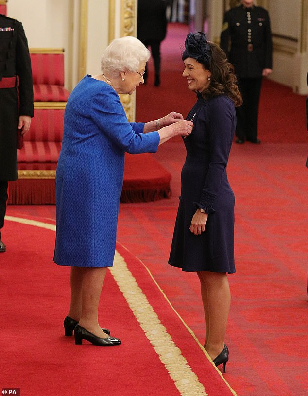 Marnie Gaffney from Kingston-Upon-Thames is made a Member of the Royal Victorian Order by Queen Elizabeth II at Buckingham Palace in an undated photograph. Deputy, assistant communications secretary Marnie Gaffney, is understood to be leaving