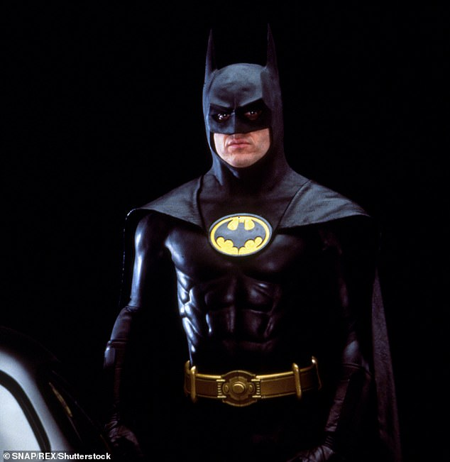 The Bat-Suit started out as a fabric bodysuit and has become an armored layer of protection, albeit still molded to the body. Pictured: Michael Keaton in 1989's Batman