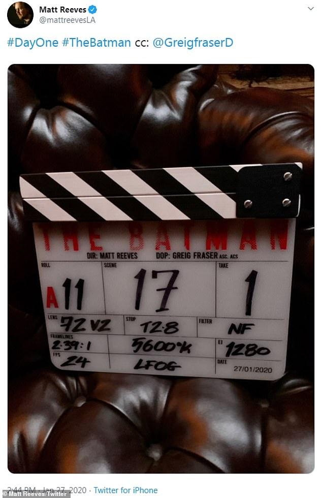 Filming on The Batman began in London in January