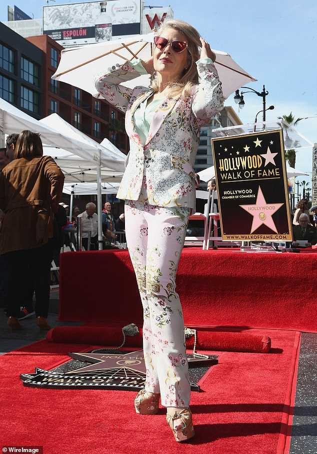 Also in attendance:Beverly D'Angelo of Vacation and American History X fame wowed in a lovely white floral pantsuit