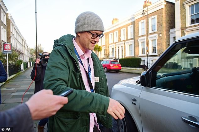 Mr Cummings appeared to be in good spirits as he was photographed leaving his London home this morning