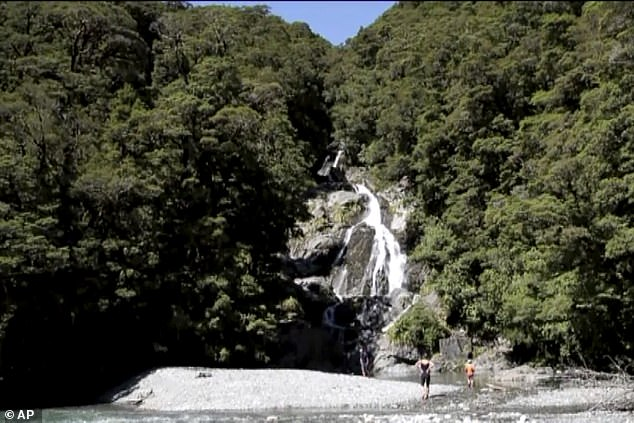 Miss Simpson's body was found in a canyon at the bottom of Pyke Creek, a riverbed close to Fantail Falls (file image) where she had told friends she would be hiking