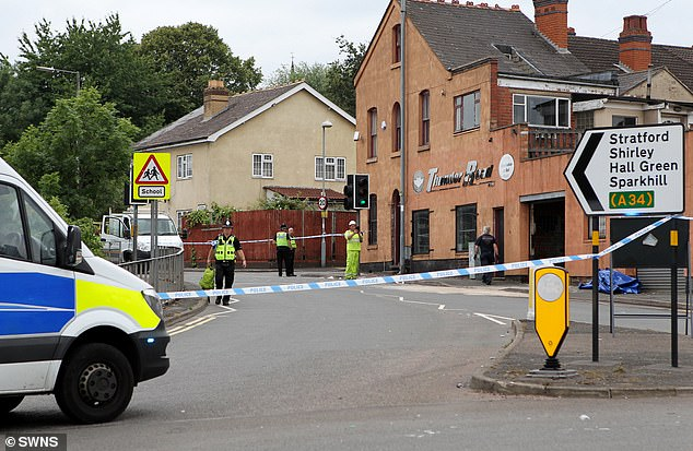 Detective Inspector Michelle Allen said West Midlands Police is 'doing all in their power to trace the second man in the car and bring him before the courts' (pictured the scene in July)