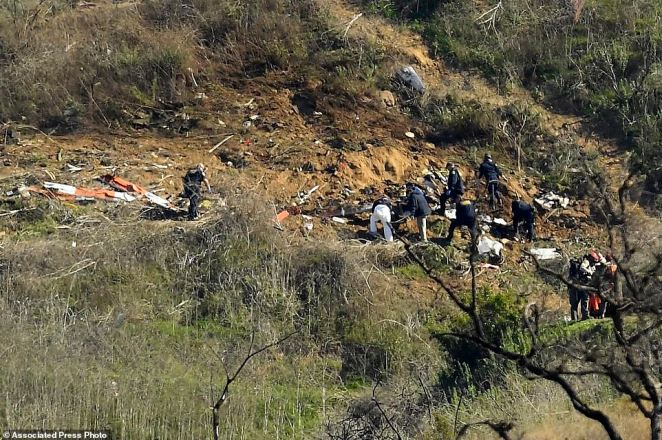 Federal investigators have not yet determined a cause for the crash in Calabasas, California, outside Los Angeles, but have said the helicopter was flying in dense fog and that there was no evidence of engine failure