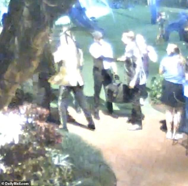 The incident was sparked when Stewart and his large party were denied access to the children's area of The Breakers Palm Beach resort in Florida on New Year's Eve