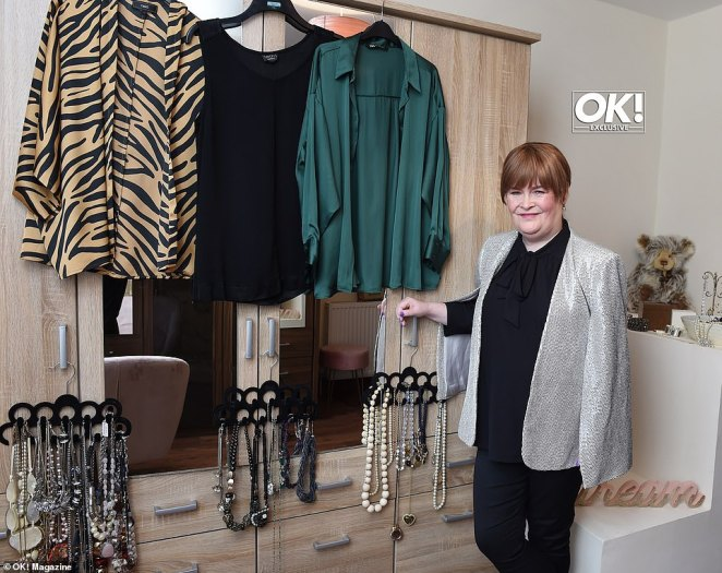 Simple:Susan also showed off her dressing room which she uses to store her array of stylish outfits, as she recalled that the home used to be a bedroom for herself and three other sisters
