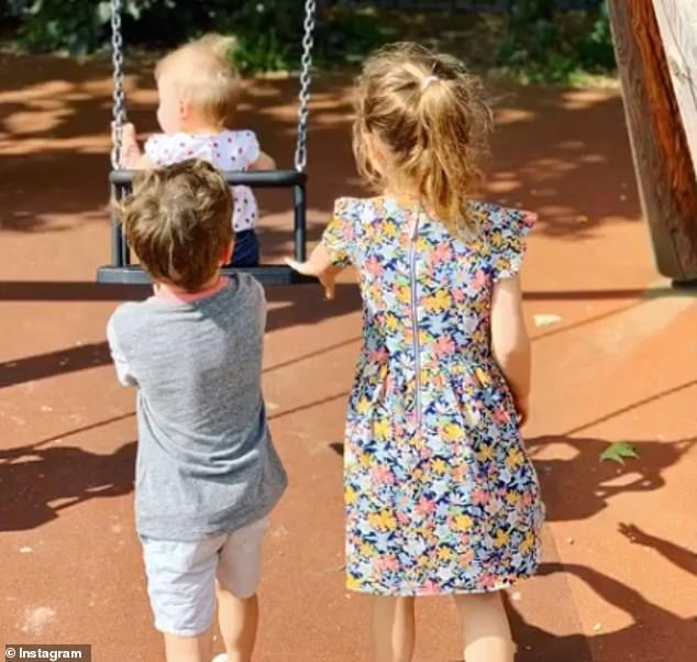 Adorable: The couple are also parents to daughter Theodora Rose Williams, seven, and son Charlton Valentine Williams, five