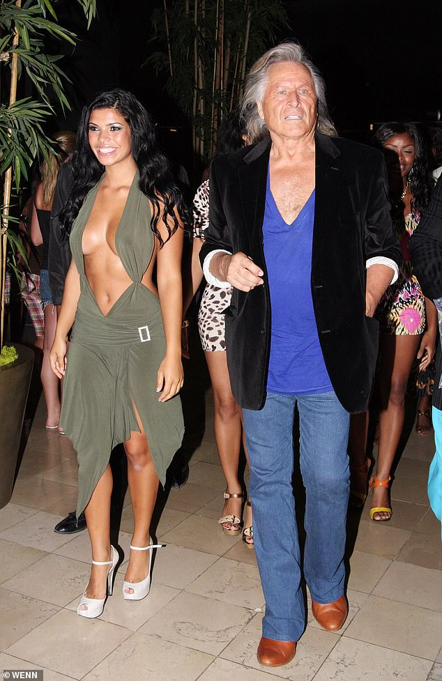 Peter Nygard is a 78-year-old Canadian fashion tycoon, famed for his ultra-flamboyant dress sense and the hedonistic lifestyle he has for years pursued at a 'private luxury resort' he owns in the Bahamas. Pictured: Actress Suelyn Medeiros and Peter Nygard arrive at a fashion event