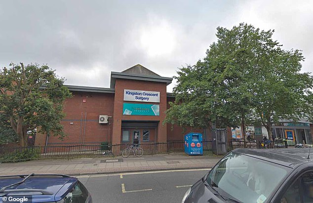 Kingston Crescent Surgery in Portsmouth, Hampshire, bolted its doors at 4.30pm following a suspected coronavirus case