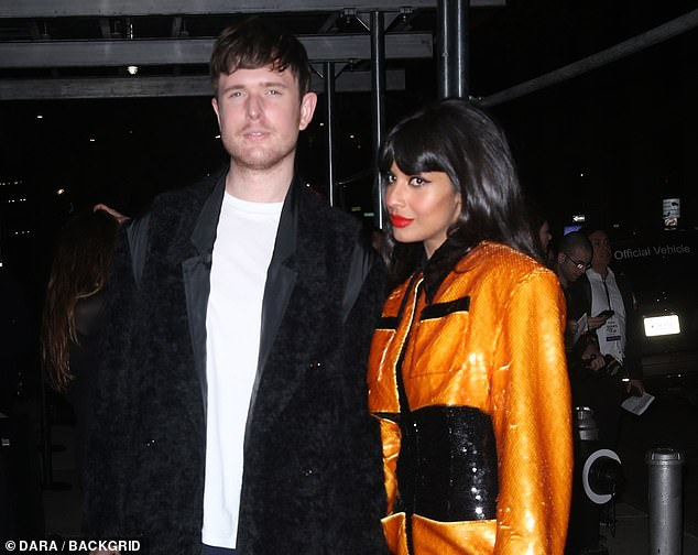 Actress Jameela Jamil and musician James Blake, who have been dating five years since 2015, at the 2019 Glamour Women of the Year Awards at Alice Tully Hall in New York