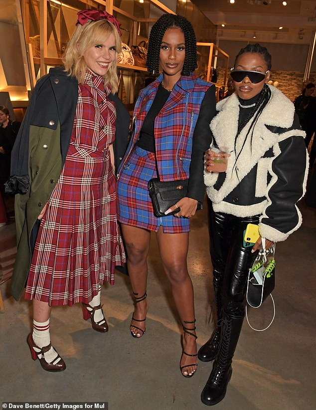 Punk queens: Paloma (left) hung out with other musicians including rapper IAMDDB (centre) and Jennifer McKee (right)