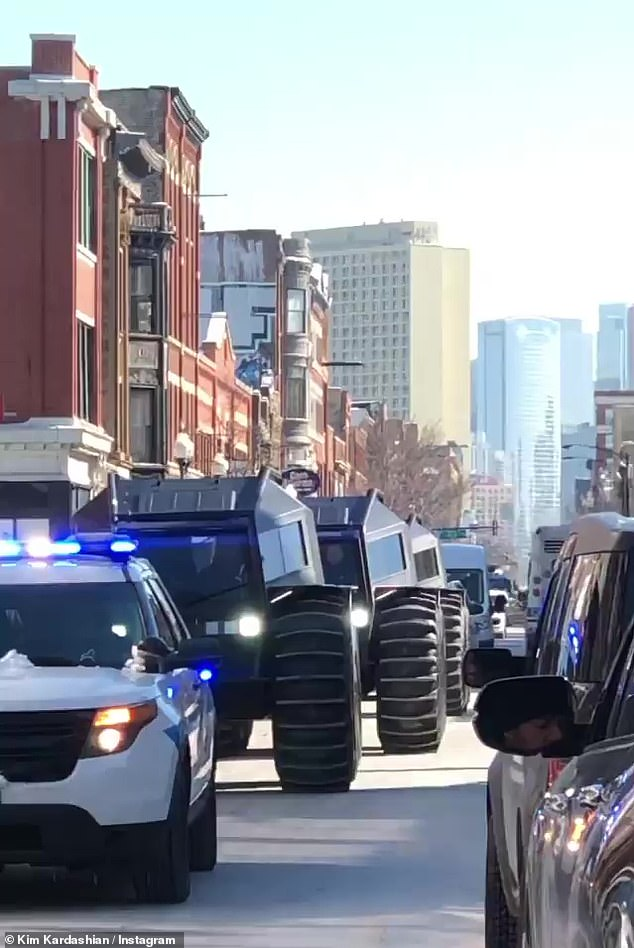 Rolling in:Kanye hired a fleet of drivers in Secret Sherps to hand out the Adidas-brand basketball shoes, which have not yet been released nationwide