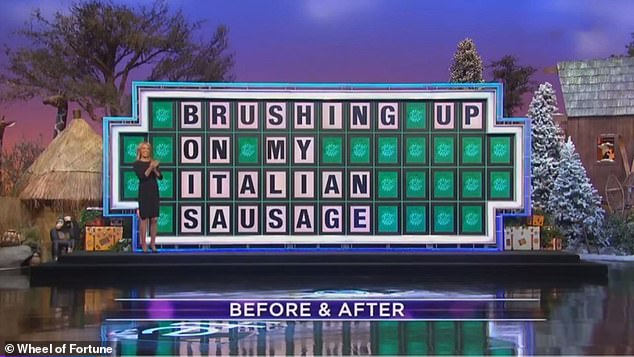 Wheel of Fortune coined the 'Brushing Up On My Italian Sausage' phrase on Thursday