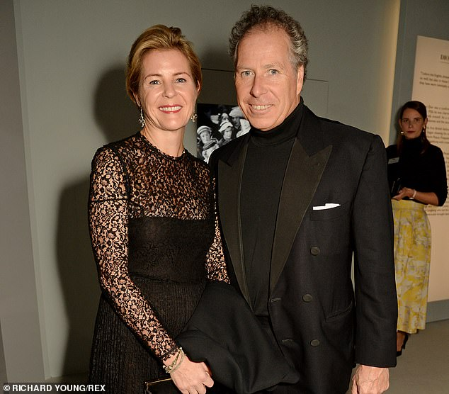 Serena Armstrong-Jones, Countess of Snowdon and David Armstrong-Jones at the Christian Dior: Designer of Dreams exhibition dinner, V&A Museum, in London on January 29 2019