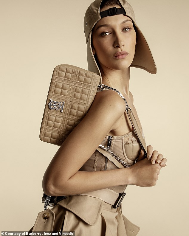 A Burberry gal at heart: She has already appeared in ads for the design giant