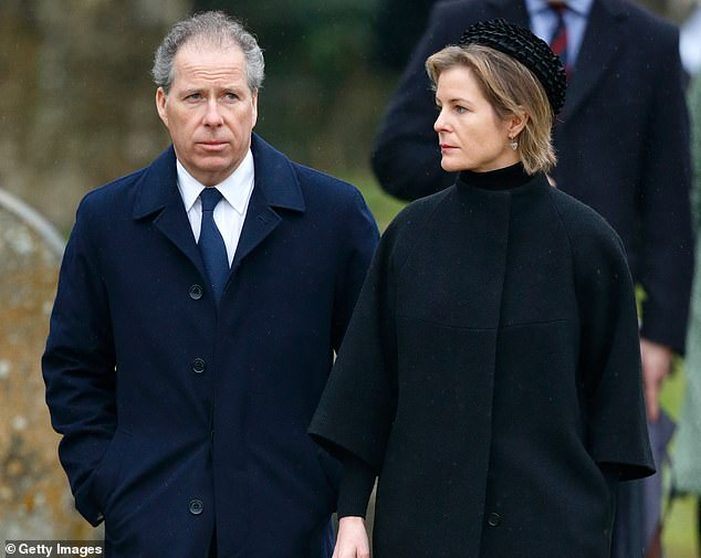The separations must be body blows to the Queen, who has not had the easiest few months... divorces seem to tear through the Royal Family like Storm Dennis, writes SARAH VINE (David, Earl of Snowdon and wife Serena, who recently announced they are divorcing, are pictured)