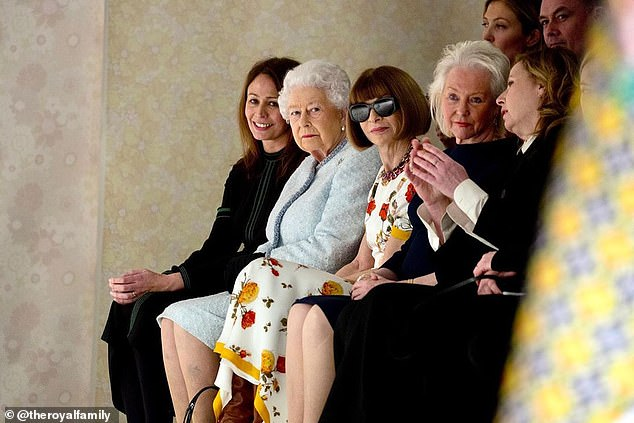 The outingcomes two years after her mother the Queen made her debut at the event to present the same award to fashion designer Richard Quinn. Pictured, with Anna Wintour