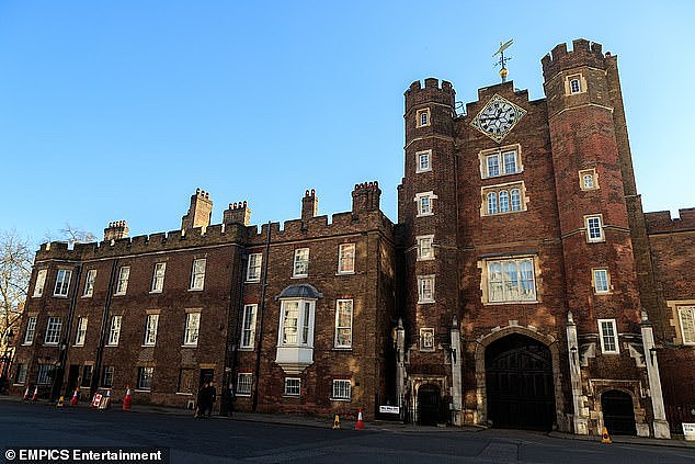 Andrew Marshall, 44, from Nottingham, was searched by police as he walked through The Mall area around St James's Palace (pictured) at night