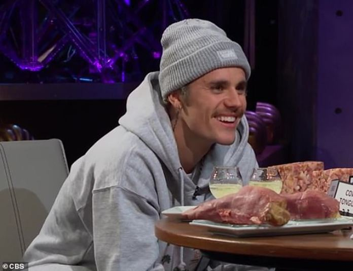 Food game: Justin Bieber ranked three of his wife Hailey Bieber's famous friends from favorite to least favorite on Thursday on The Late Late Show With James Corden