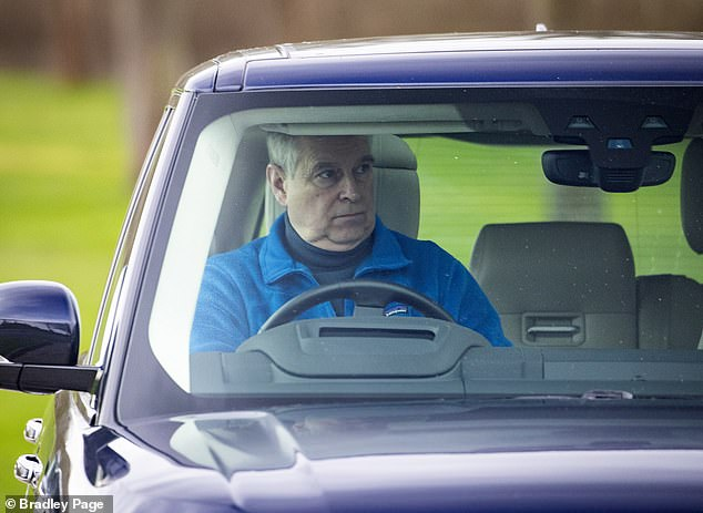 Prince Andrew seen for the first time since turning 60 leaving his home, Royal Lodge today
