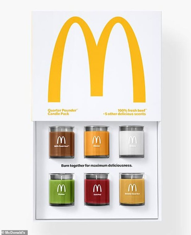 Smell that?  McDonald's has sold some infrequent merchandise before - in fact, earlier this year the chain sold a quarter pounder-scented candle