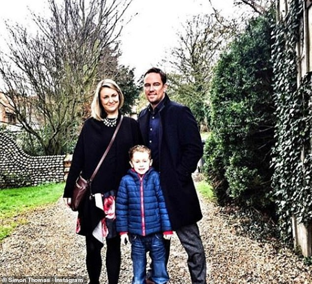 Norfolk-born father-of-one Simon, 47, has been raising son Ethan, 10, single-handedly after losing his wife Gemma (pictured) to cancer at the end of 2017, seen in 2015