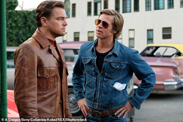 Back on top: Tarantino had a banner 2019 with the release of Once Upon A Time In Hollywood, which garnered some of the best reviews of his career; Leonardo DiCaprio and Brad Pitt shown