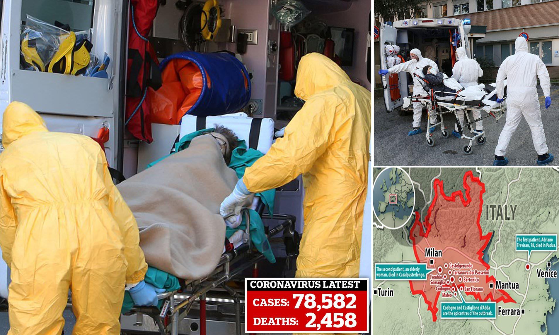 Coronavirus kills two in Italy   Daily Mail Online
