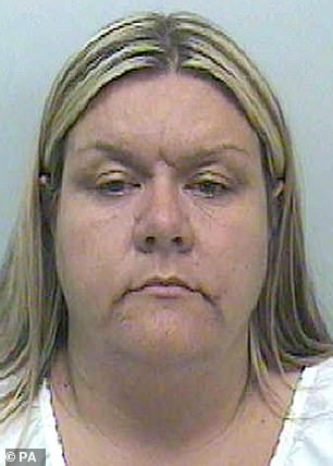 Vanessa George, 49, is seen in her police mugshot when she had blonde hair