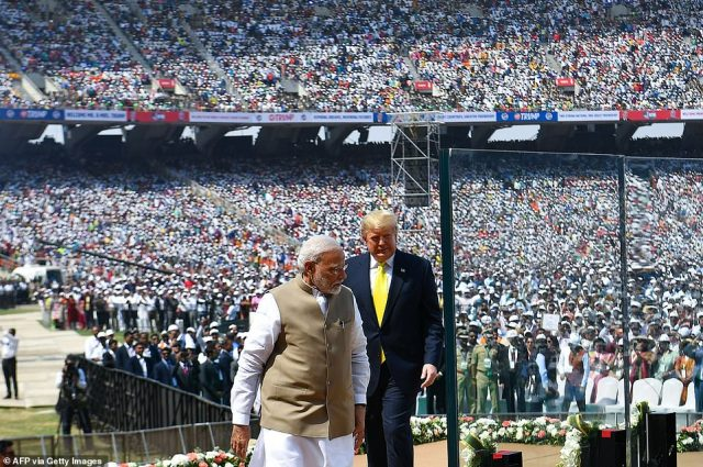 Prime Minister Modi welcomed President Trump to the world's largest cricket stadium