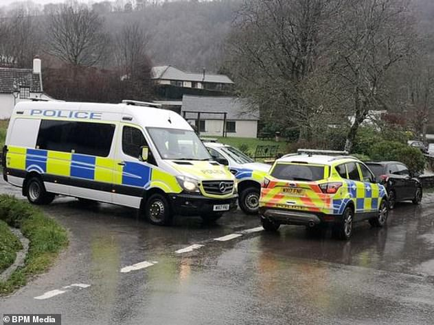 Officers were called to the property after reports of a hearing a gunshot in Winsford, Somerset