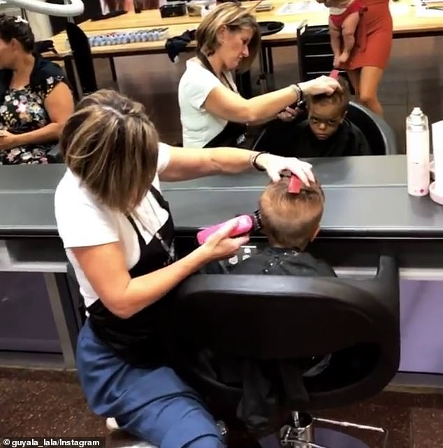 The nine-year-old (pictured) was invited for a makeover at Nak Hair in Murarrie, east Brisbane after staff were moved by a video of him crying which went viral last week