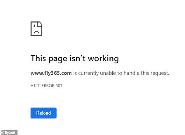 When going onto the former website, customers are met with a 'This page isn't working' pop up