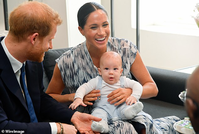 Harry, Meghan and their son Archie (above) have all been in different places in recent months which is said to have added to their security costs