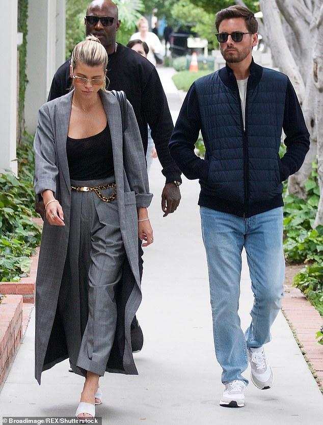 Tumultuous: The loving display came after a report earlier this month in People that the couple regularly break up and patch things up again; pictured in May